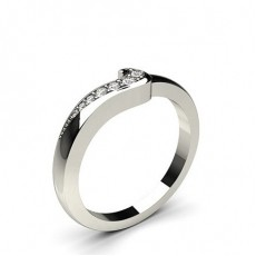 2.50mm Studded Flat Profile Diamond Shaped Band