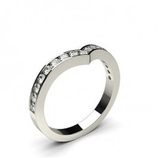 2.40mm Studded Flat Profile Diamond Shaped Band