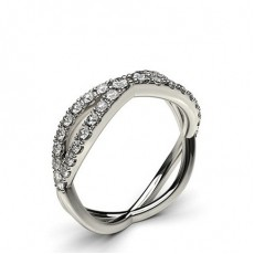 5.10mm Studded Flat Profile Diamond Shaped Band