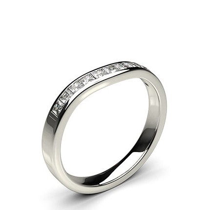 2.60mm Studded Flat Profile Diamond Shaped Band