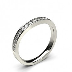 2.50mm Studded Slight Comfort Fit Diamond Shaped Band