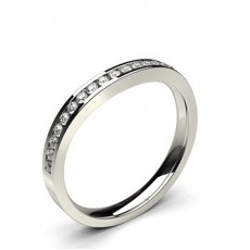 2.50mm Slight Comfort Profile Plain Shaped Wedding Band
