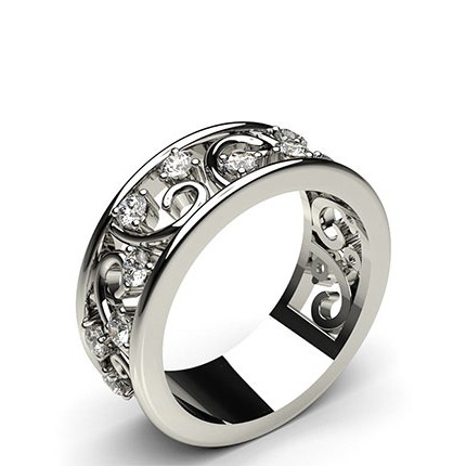 3 Prong Setting Round Diamond Fashion Ring