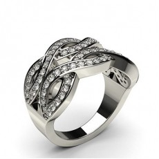 Pave Setting Round Diamond Fashion Ring