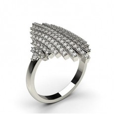 Platinum Statement Diamond Rings