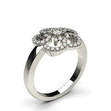 5 Prong Setting Bague Diamant