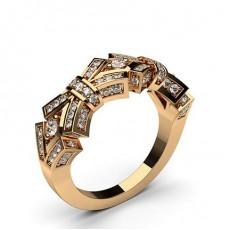 Round Rose Gold Diamond Rings
