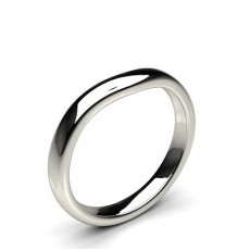 2.60mm Slight Comfort Profile Plain Shaped Wedding Band