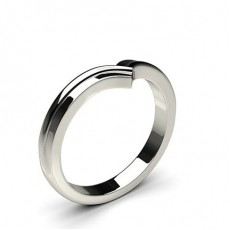 2.30mm Flat Profile Plain Shaped Wedding Band