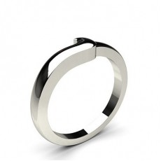 1.70mm Slight Comfort Profile Plain Shaped Wedding Band