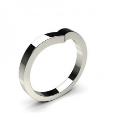2.50mm Flat Profile Plain Shaped Wedding Band