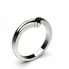 2.40mm Flat Profile Plain Shaped Wedding Band