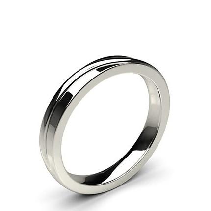 5.00mm Flat Profile Plain Shaped Wedding Band