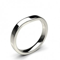2.60mm Flat Profile Plain Shaped Wedding Band
