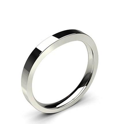 2.50mm Slight Comfort Profile Plain Shaped Wedding Band