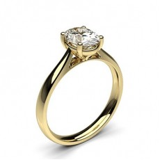 Oval Yellow Gold  Solitaire Diamond Engagement Rings