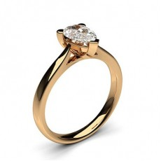 Pear Rose Gold Diamond Rings