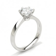 Platinum Classic Solitaire Diamond Engagement Rings