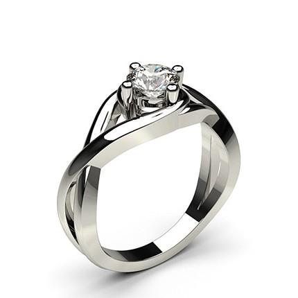 Bar Setting Plain Engagement Ring