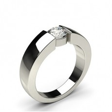 Bar Setting Plain Engagement Ring
