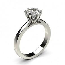 6 Prong Setting Plain Engagement Ring