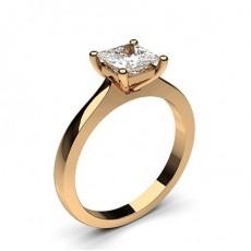 Prinzessin Rotgold Solitäerringe Diamantringe