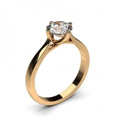 Round Rose Gold Solitaire Diamond Rings