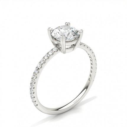 8 Prong Setting Side Stone Engagement Ring