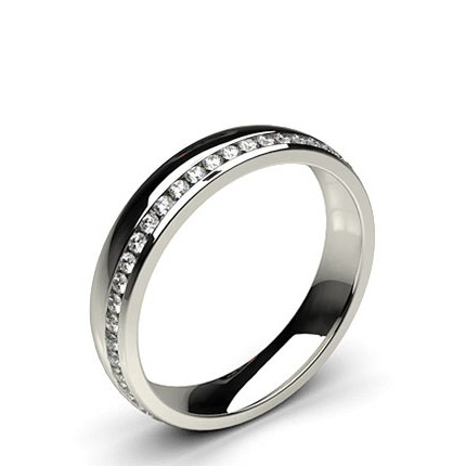 4.10mm Studded Comfort Fit Diamond Wedding Band