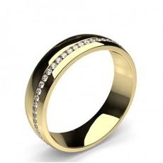Alliance diamant en profil plat rond serti pavé 2.2mm