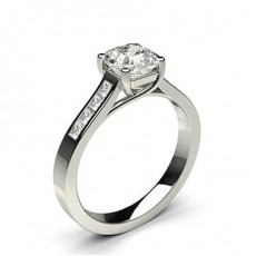 Asscher Platinum Engagement Rings