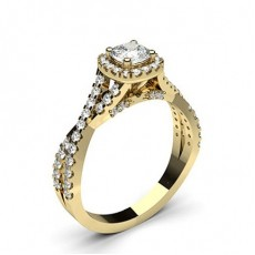 Yellow Gold Halo Engagement Rings