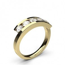 Yellow Gold 5 Stone Diamond Rings