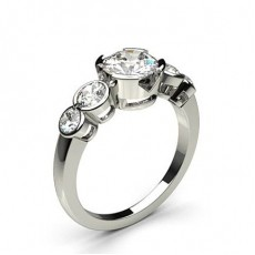 Semi Bezel Setting Diamond Rings