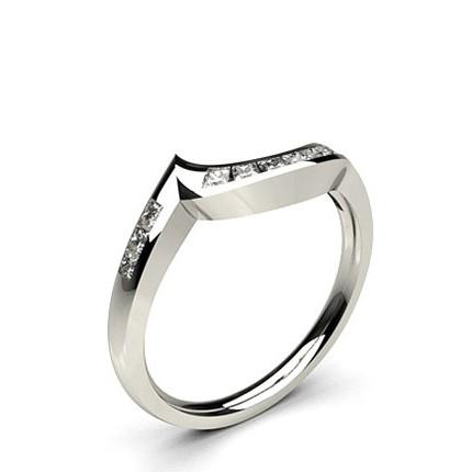 1.90mm Channel Setting Studded Round Diamond Shaped Band