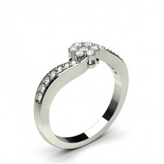 Round Promise Diamond Rings