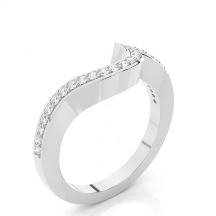 1.7mm Studded Slight Comfort Fit Diamond Shaped Band