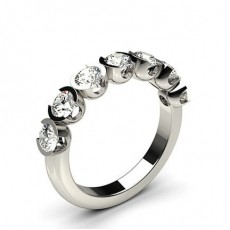 Round  7 Stone Diamond Rings