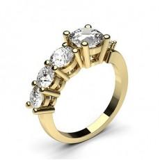 Yellow Gold 7 Stone Diamond Rings