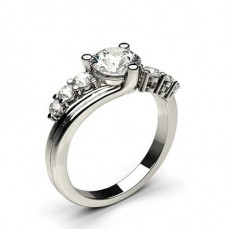 Platinum 7 Stone Diamond Rings