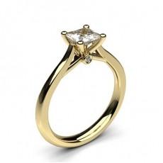 Prinzessin Gelbgold Solitäerringe Diamantringe
