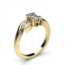 Marquise Yellow Gold Diamond Rings