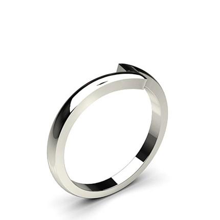2.00mm Slight Comfort Fit Plain Shaped Wedding Band