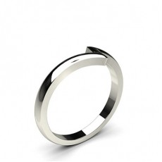 2.00mm Slight Comfort Fit Plain Shaped Wedding Band