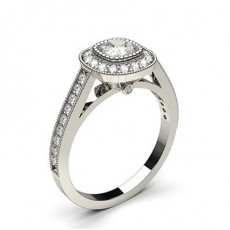Cushion  Halo Engagement Rings
