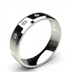 Five Stone Studded Diamond Wedding Band
