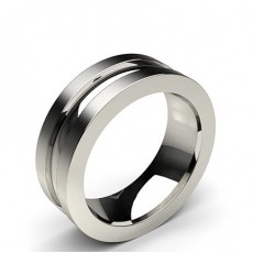 5.00mm 2 Groove lines Standard Fit Plain Wedding Band