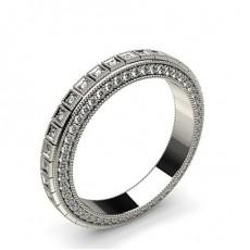 2.50mm 4 Prong Setting Full Eternity Diamond Ring