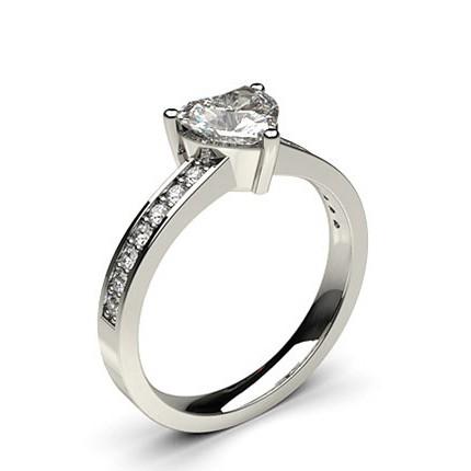 3 Prong Setting Side Stone Engagement Ring
