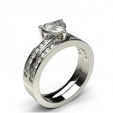 Heart   Bridal Set Diamond Engagement Rings